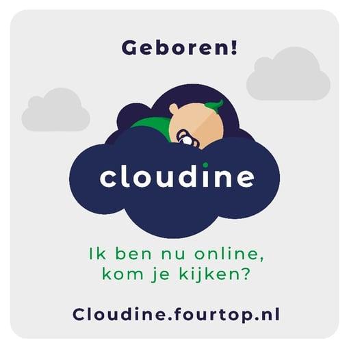 Cloudine babykaartje | Fourtop ICT