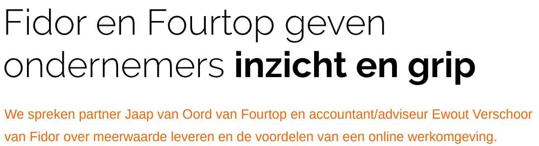 Fidor en Fourtop ICT   Partnercase